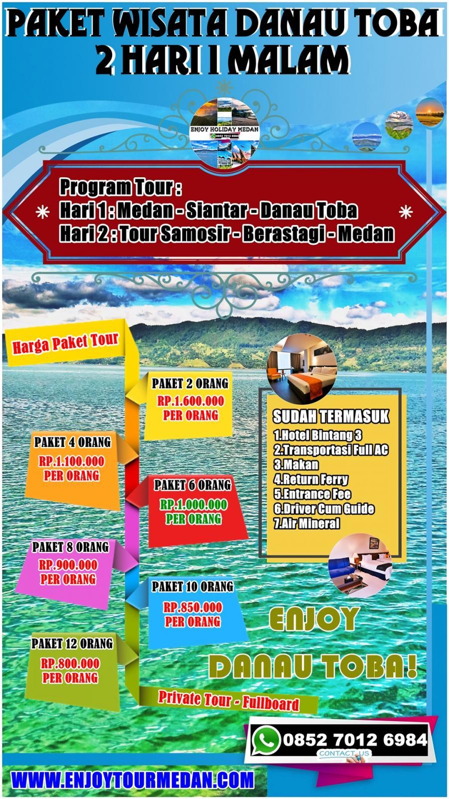 2 Hari / 1 Malam Paket Wisata Medan-Berastagi-Danau Toba