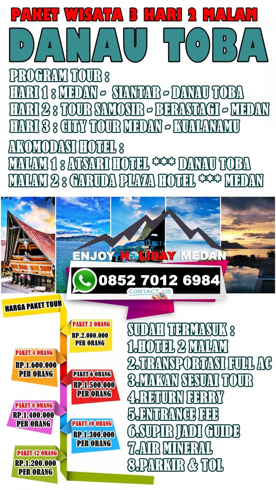 3D2N Medan Berastagi Highland Lake Toba Tour