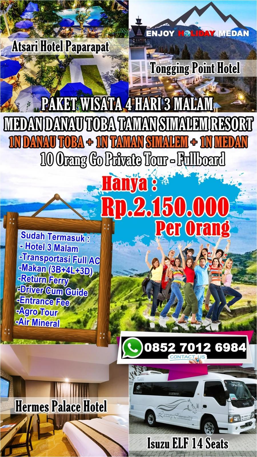 4D3N Medan Lake Toba Tour Taman Simalem Resort
