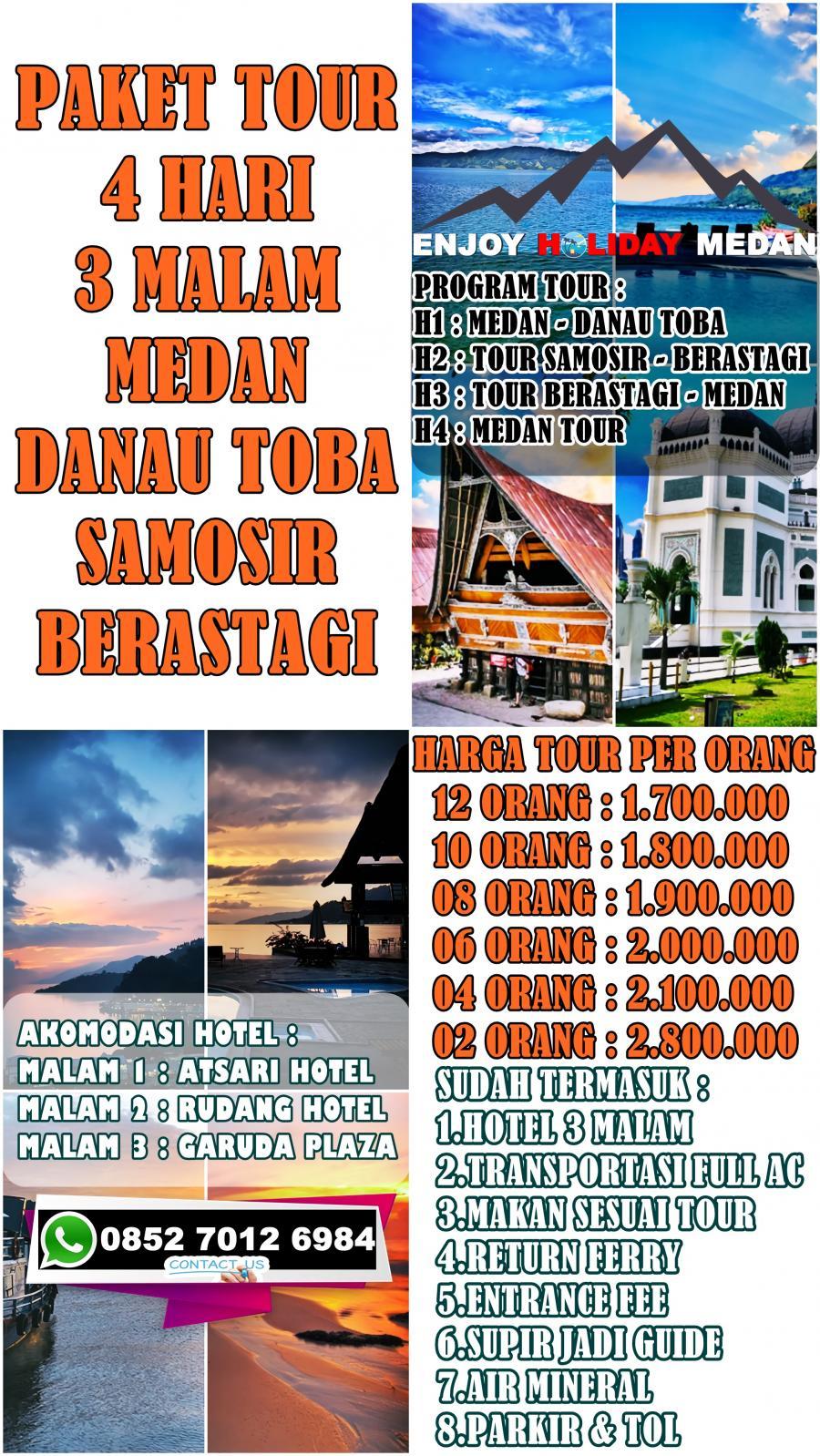 4D3N Paket Tour Medan-Berastagi-Parapat