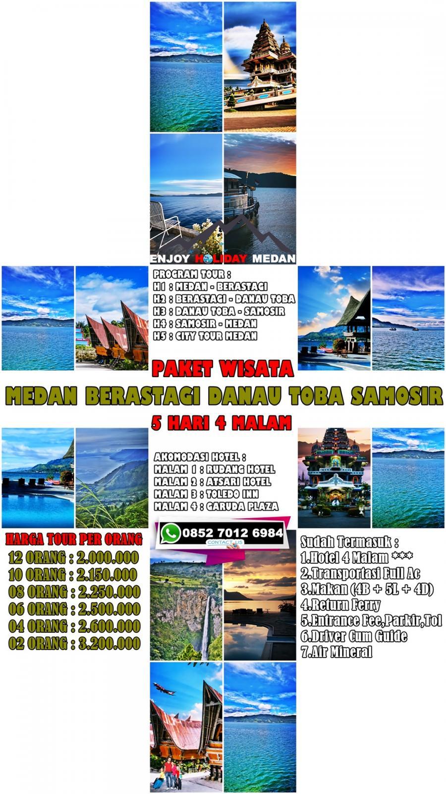 5 Hari / 4 Malam Paket Tour Medan-Berastagi-Parapat