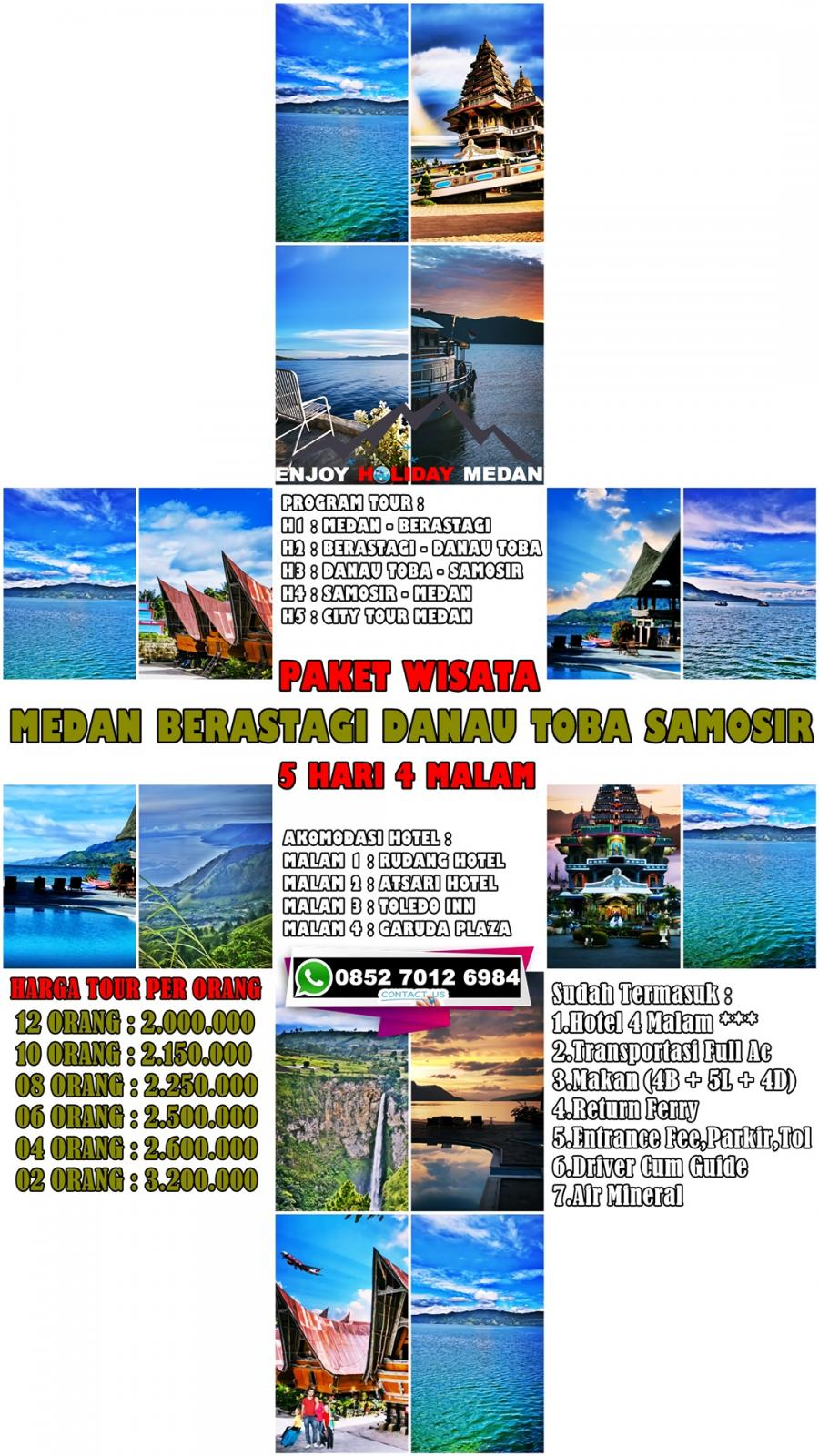 5D4N Medan Lake Toba Tour Taman Simalem Resort