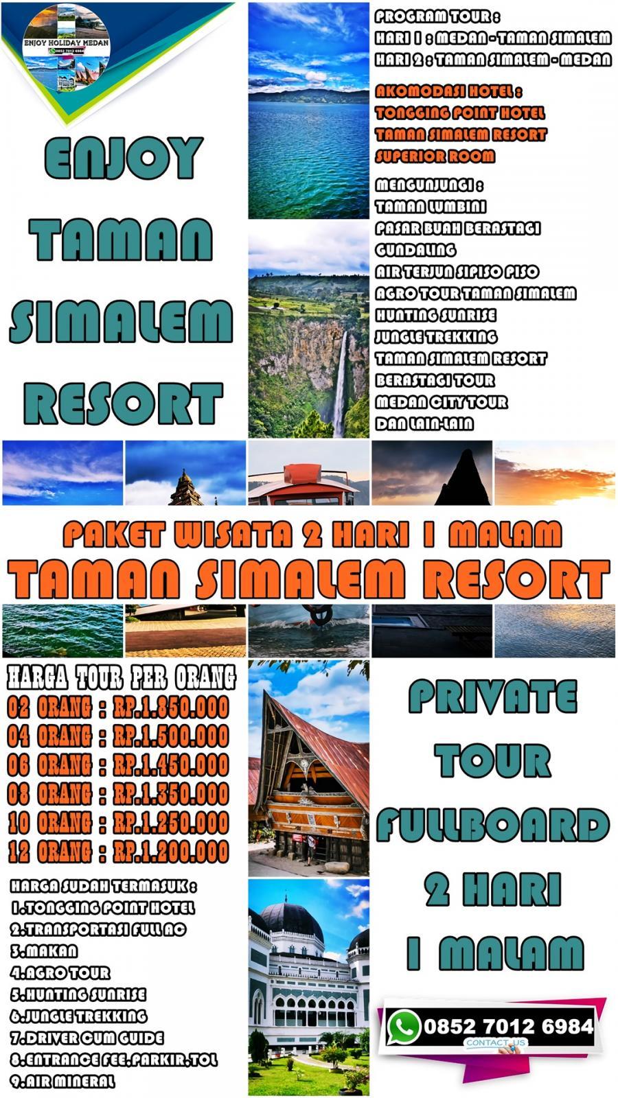Paket Tour Taman Simalem Resort 6 Hari 5 Malam